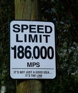 speed limit of light
